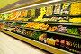 Прилавки с фруктами и овощами в супермаркете, фото № 1430861, снято 3 декабря 2007 г. (c) Andrejs Pidjass / Фотобанк Лори