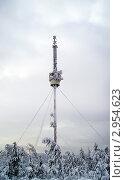 Обледенелая телевизионная башня