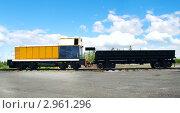 Узкоколейный тепловоз ТУ7А-3192 и полувагон