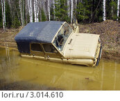 УАЗ утонул в болоте