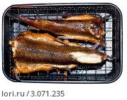 Копченая рыба в коптилке