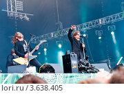 """Выступление группы """"Би-2"""" на фестивале """"Рок над Волгой"""" в Самаре в 2012 году, фото № 3638405, снято 11 июня 2012 г. (c) Вадим Орлов / Фотобанк Лори"""