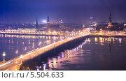 Каменный мост через реку Даугаву, Рига, фото № 5504633, снято 3 января 2014 г. (c) Донцов Евгений Викторович / Фотобанк Лори