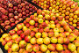 Apple stall in big supermarket, фото № 6398125, снято 8 августа 2014 г. (c) Elnur / Фотобанк Лори