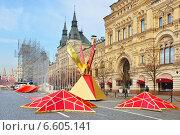 Подготовка к маршу в честь исторического военного парада 7 ноября 1941 года, Красная площадь, Москва, фото № 6605141, снято 30 октября 2014 г. (c) Валерия Попова / Фотобанк Лори