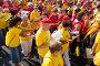 People singing at rally demanding independence for Catalonia, фото № 6954801, снято 11 сентября 2014 г. (c) Яков Филимонов / Фотобанк Лори