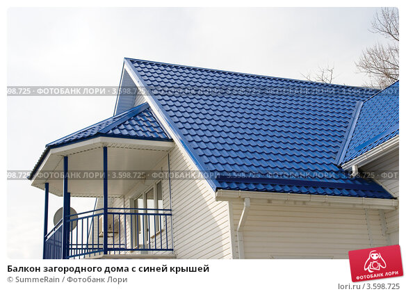 Лоджия на крыше дома.