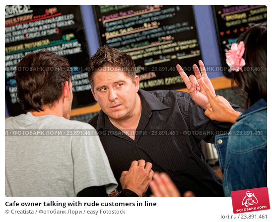 Customers in line