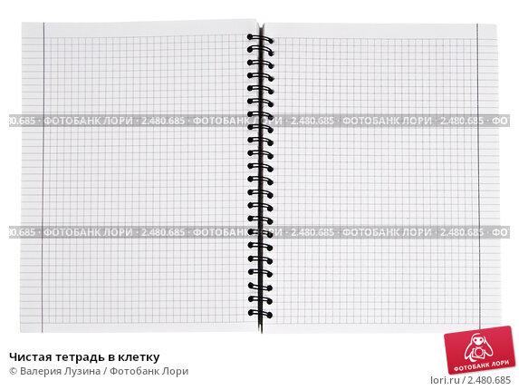 Чистая тетрадь в клетку; фото 2480685, фотограф Валерия Потапова. Фотобанк Лори - Продажа фотографий, иллюстраций и изображений,