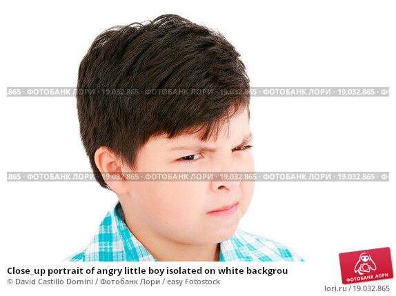 Angry little black boy