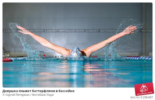 Девушка плывет баттерфляем в бассейне; фото № 2238657 ...: http://lori.ru/2238657