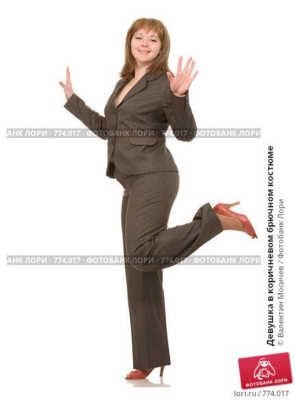 Девушка в коричневом брючном костюме, фото 774017, снято 7 марта 2009 г...