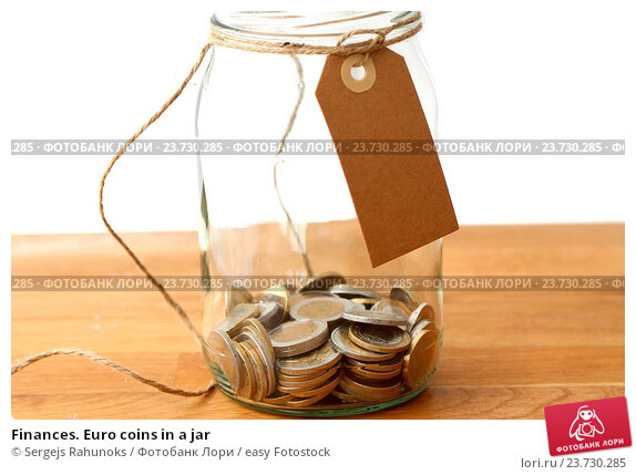 Saving money in a coin jar