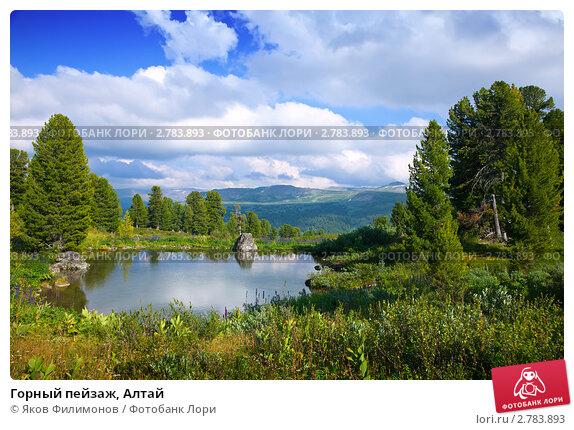 Горный пейзаж, Алтай, фото № 2783893, снято 18 июля 2011 г. (c) Яков Филимонов / Фотобанк Лори