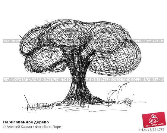 Нарисованное дерево иллюстрация