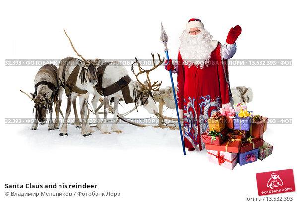 Santa claus and reindeer images