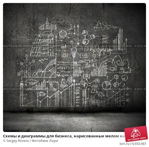 Рисунки на стенах мелом схемы