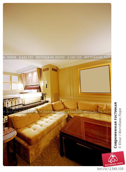 Современная гостиная, фото № 2543133, снято 11 сентября 2010 г. (c) Elnur / Фотобанк Лори