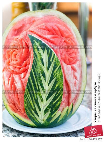 Узоры на арбузах фото