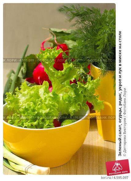 Салат огурцы с луком и укропом