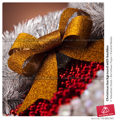 Christmas background with baubles . Стоковое фото, фотограф Sebastian Duda / PantherMedia / Фотобанк Лори