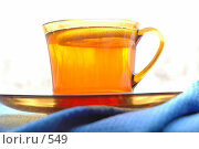 Купить «Чашка чая и лимон», фото № 549, снято 1 февраля 2005 г. (c) Юлия Яковлева / Фотобанк Лори
