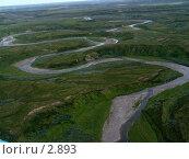 Купить «Река с вертолета», фото № 2893, снято 2 августа 2005 г. (c) Николай Гернет / Фотобанк Лори