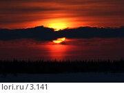 Купить «Закат», фото № 3141, снято 25 марта 2006 г. (c) Николай Гернет / Фотобанк Лори