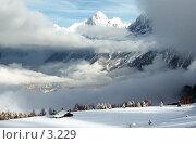 Купить «Зима в горах, Франция, Les Hoshes», фото № 3229, снято 24 мая 2019 г. (c) Юлия Кузнецова / Фотобанк Лори