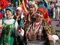 Женщины в национальных костюмах, фото № 8205, снято 26 августа 2006 г. (c) Vladimir Fedoroff / Фотобанк Лори
