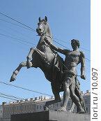 Купить «Укрощение коня. Скульптор П. Клодт. Санкт-Петербург», фото № 10097, снято 27 апреля 2018 г. (c) Маргарита Лир / Фотобанк Лори