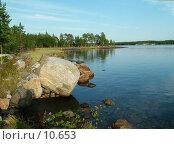 Купить «Вечер на безымянном островке севернее о. Олений», фото № 10653, снято 3 августа 2004 г. (c) Вячеслав Потапов / Фотобанк Лори