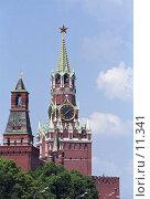 Купить «Московский Кремль. Спасская башня», фото № 11341, снято 18 августа 2018 г. (c) Юрий Синицын / Фотобанк Лори