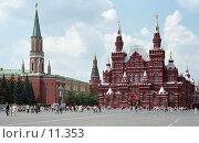 Купить «Москва, Красная площадь, Исторический музей», фото № 11353, снято 18 августа 2018 г. (c) Юрий Синицын / Фотобанк Лори