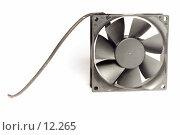 Купить «Компьютерный вентилятор на белом фоне», фото № 12265, снято 5 ноября 2006 г. (c) Угоренков Александр / Фотобанк Лори