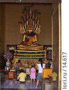 Купить «Статуя Будды со змеиными головами», фото № 14617, снято 6 сентября 2006 г. (c) Старкова Ольга / Фотобанк Лори