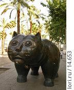 Купить «Статуя кота на улице Барселоны», фото № 14653, снято 21 июня 2006 г. (c) Старкова Ольга / Фотобанк Лори