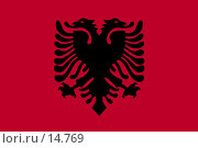Купить «Флаг Албании», фото № 14769, снято 19 февраля 2020 г. (c) Захаров Владимир / Фотобанк Лори