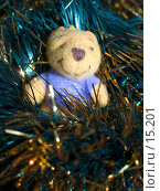 Купить «Медвежонок в мишуре», фото № 15201, снято 20 сентября 2018 г. (c) SummeRain / Фотобанк Лори