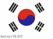 Купить «Флаг Южной Кореи», фото № 15317, снято 23 февраля 2019 г. (c) Захаров Владимир / Фотобанк Лори
