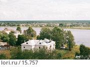 Купить «Каргополь, вид на реку», фото № 15757, снято 19 августа 2018 г. (c) Андреева Евгения / Фотобанк Лори