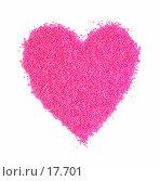 Купить «Розовое сердце из бисера», фото № 17701, снято 12 января 2007 г. (c) Валерия Потапова / Фотобанк Лори