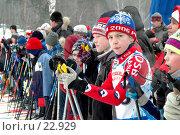 Купить «Дети-лыжники на старте», фото № 22929, снято 3 февраля 2007 г. (c) Сайганов Александр / Фотобанк Лори