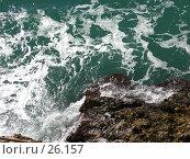 Купить «Морской прибой», фото № 26157, снято 3 ноября 2006 г. (c) Маргарита Лир / Фотобанк Лори