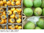 Купить «Коробки с экзотическими фруктами», фото № 26337, снято 18 марта 2007 г. (c) Аврам / Фотобанк Лори