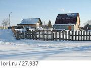 Купить «Зимний сельский пейзаж», фото № 27937, снято 24 сентября 2018 г. (c) Александр Тараканов / Фотобанк Лори