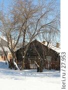 Купить «Частный деревянный дом зимой в сельской местности», эксклюзивное фото № 27953, снято 25 февраля 2007 г. (c) Александр Тараканов / Фотобанк Лори