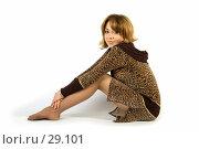 Купить «Красивая девушка, сидящая на полу», фото № 29101, снято 24 марта 2007 г. (c) Вадим Пономаренко / Фотобанк Лори