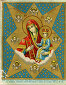 Открытка 1896 г. с изображением Богородицы, фото № 29145, снято 29 июля 2017 г. (c) Павел Преснов / Фотобанк Лори