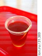 Купить «Чай с солнцем! (Пластиковый стакан с чаем на красном подносе)», фото № 31389, снято 12 августа 2006 г. (c) Элеонора Лукина (GenuineLera) / Фотобанк Лори